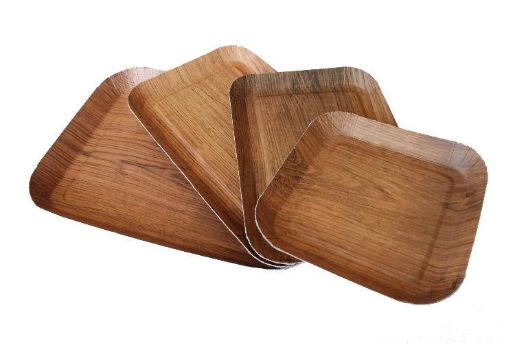 Barquette carton impression bois