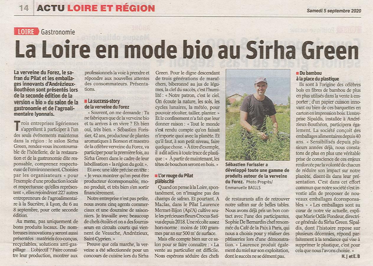 Article Le Progrès Sirha Green 2020